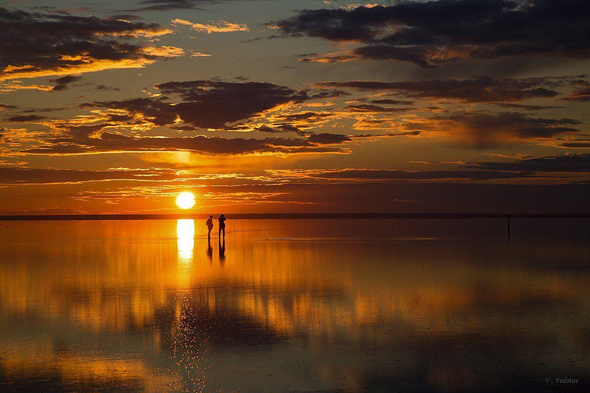 закат , отражение , небо , люди ., Федотов Вадим(Vadius)