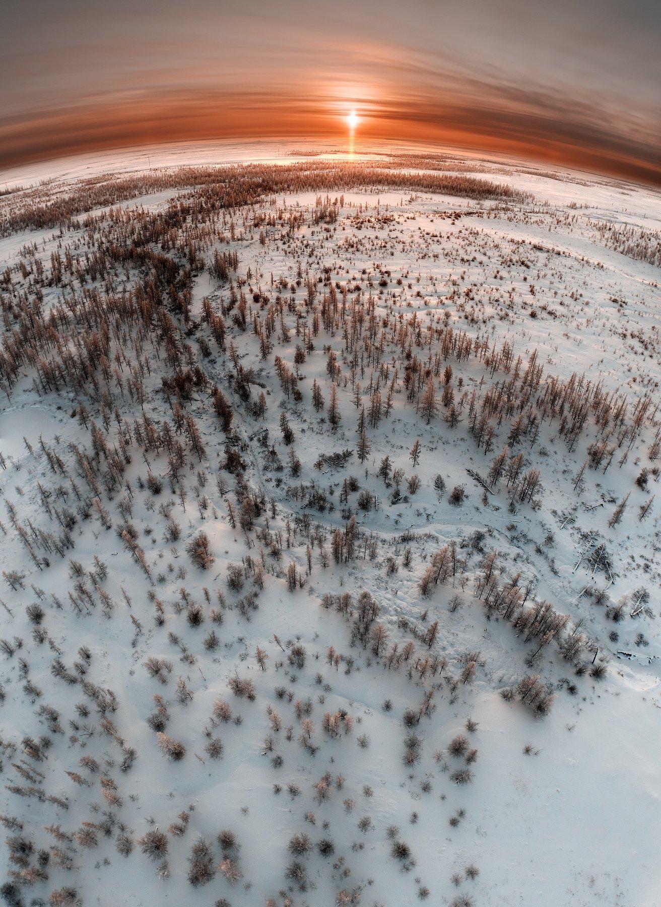 ямал, пейзаж, закат, дрон, phantom, земля, новыйуренгой, уренгой, тундра, россия, Камиль Нуреев