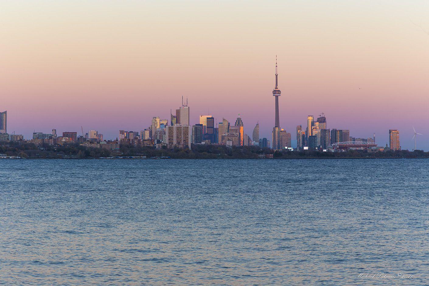 toronto, fall, city, supermoon,evenung, sunset, Michael Latman