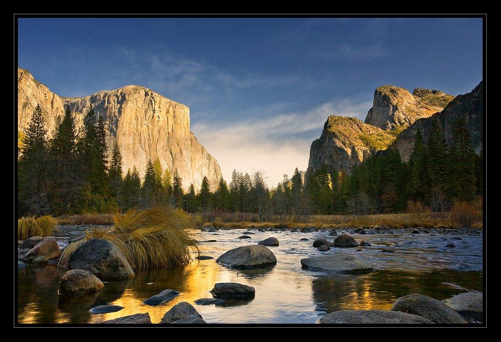 yosemite valley, merceded river, california., Ben Marar