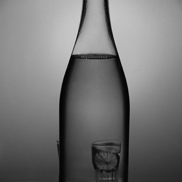 натюрморт, чб, лимон, фото, стекло, Ольга Горелова