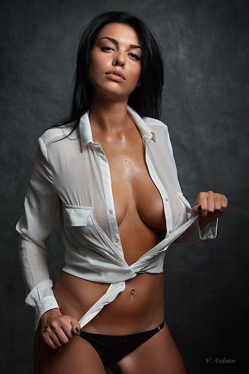 студия , ню , белая рубашка , девушка , гламур, Федотов Вадим(Vadius)