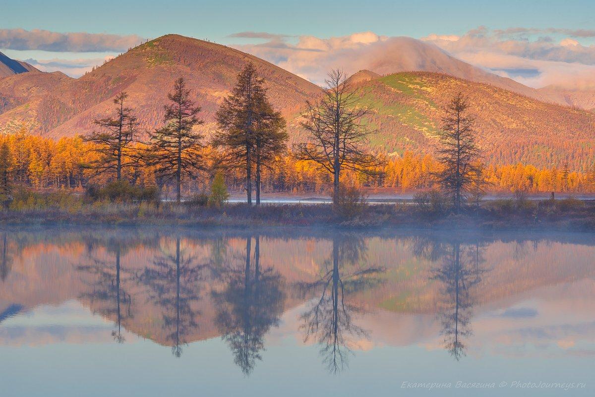 колыма, озеро, отражение, Екатерина Васягина