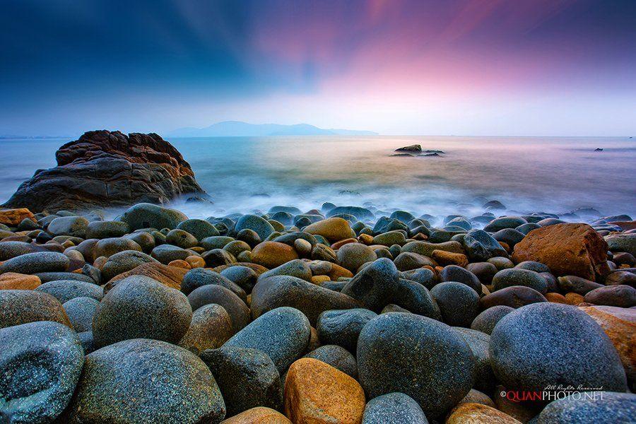 #quanphoto,#landscape,#seascape,#longexposure,#sea,#rocks,#sunrise,#dawn,#skyline,#vietnam, quanphoto