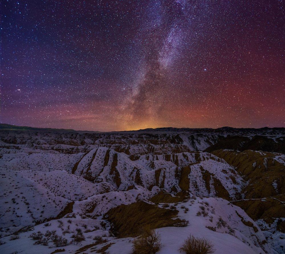 ночное небо, каньон, жабыр, чарын, Ольга Кулакова