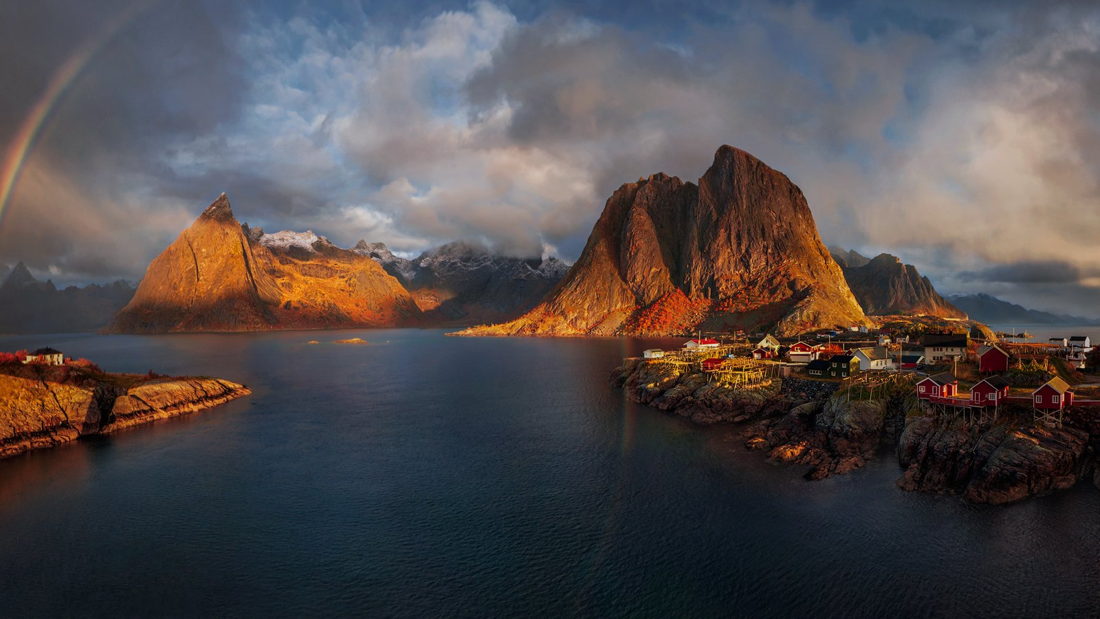 panorama, norway, nikon, travel, lofoten islands, hamnoy, northern norway, arctic, adventure, photography, reine, lofoten,, Hubert Leszczynski