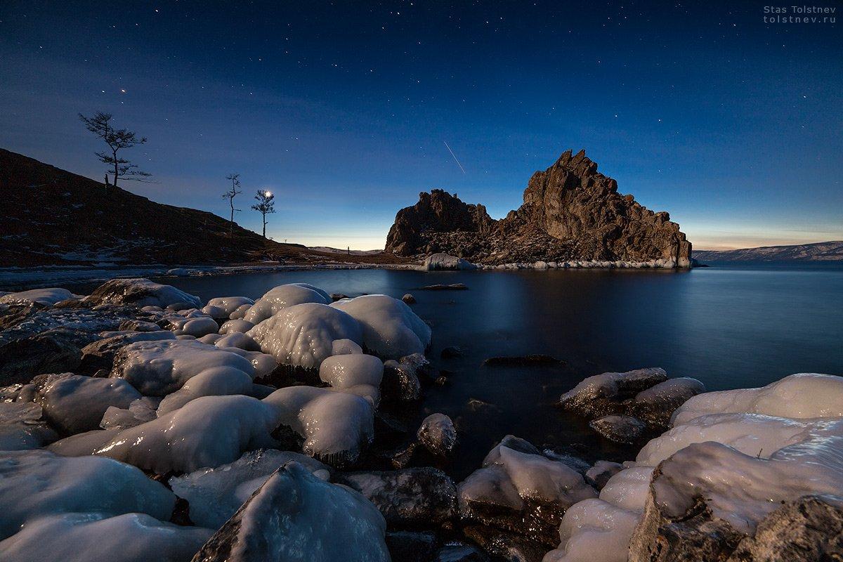 байкал, малое море, ольхон, лед, зима, шаманка, бурхан,, Станислав Толстнев