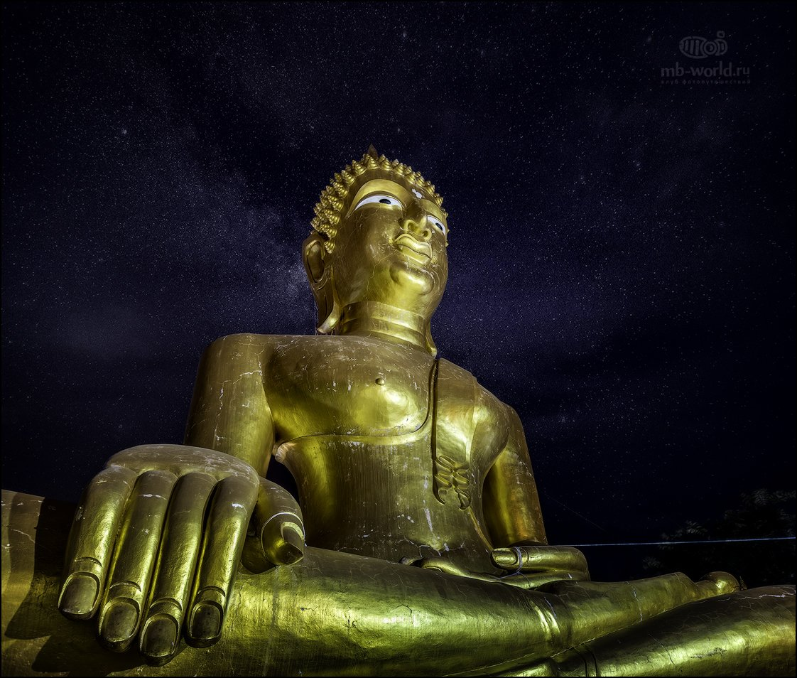 Таиланд, Паттая, будда, ночь, звезды, Михаил Воробьев