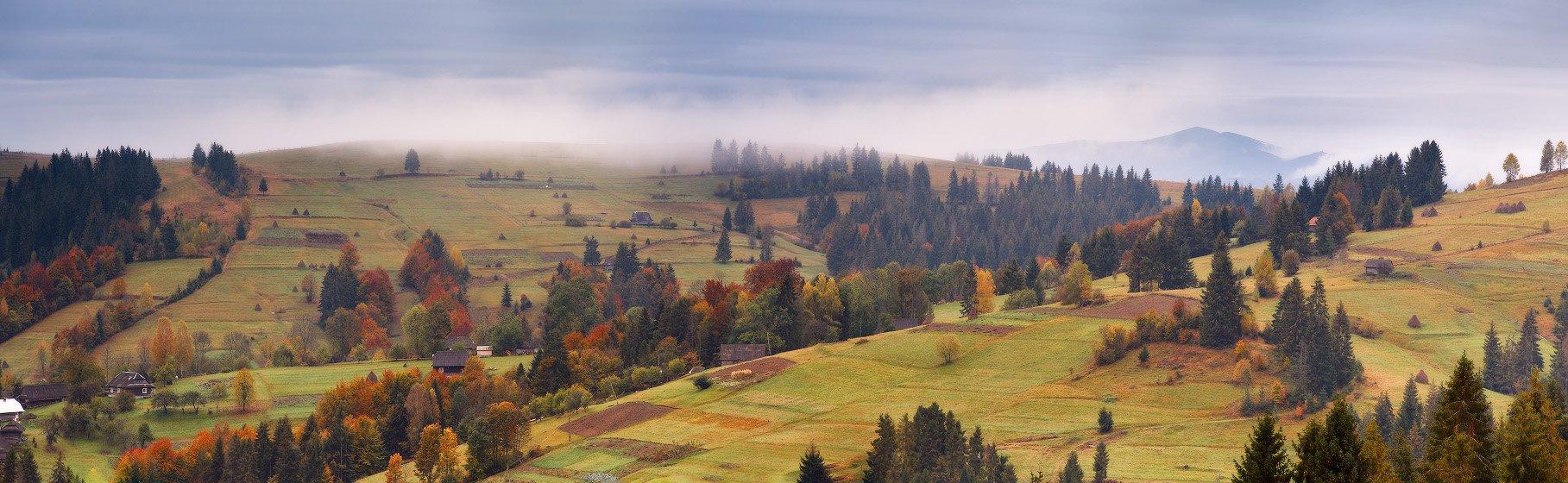 Карпаты, Октябрь, Осень, Украина, Утро, Горы, Вейзе Максим