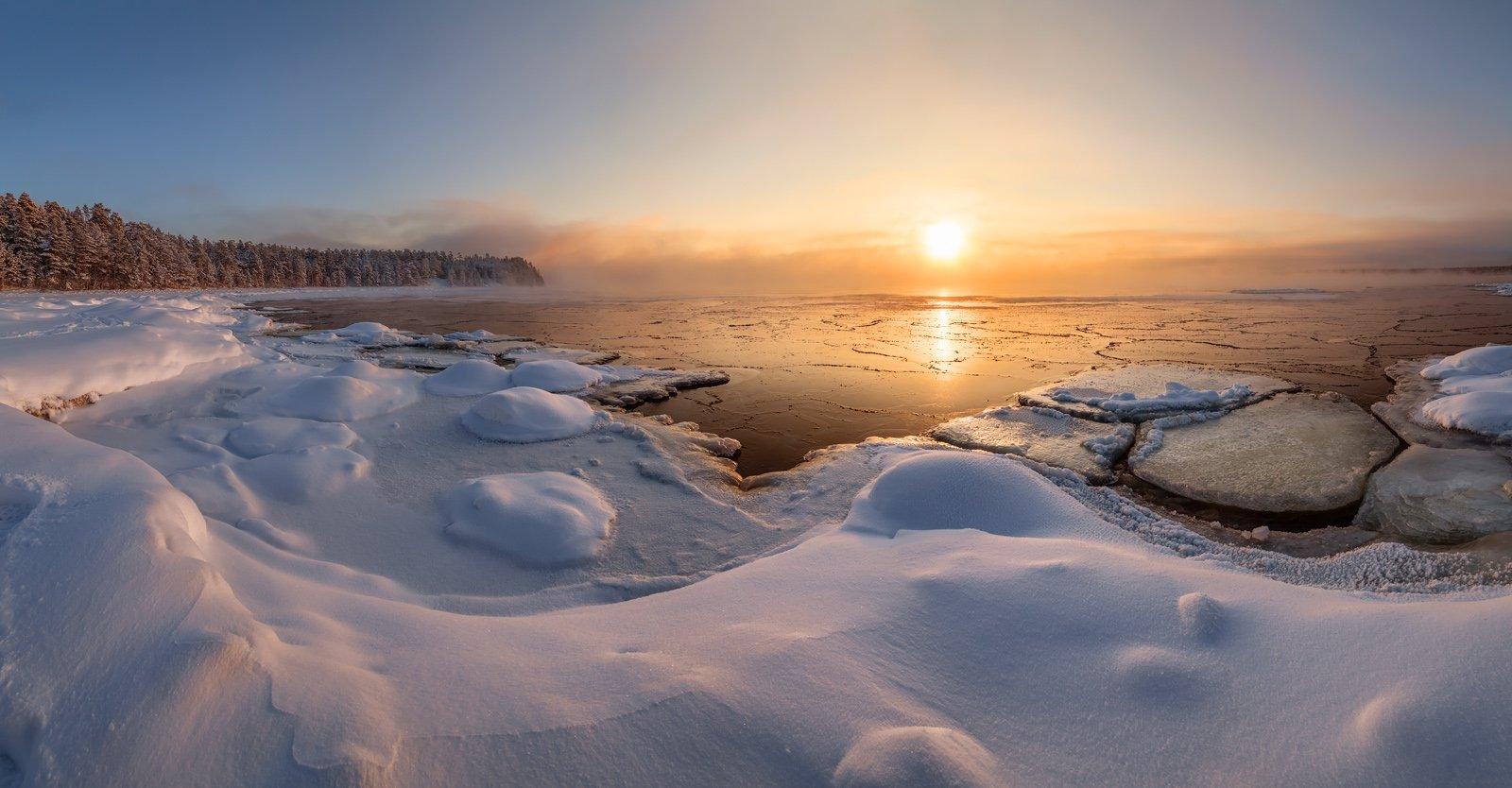 Ладога, Ладожское озеро, мороз, Ленинградская область , Арсений Кашкаров