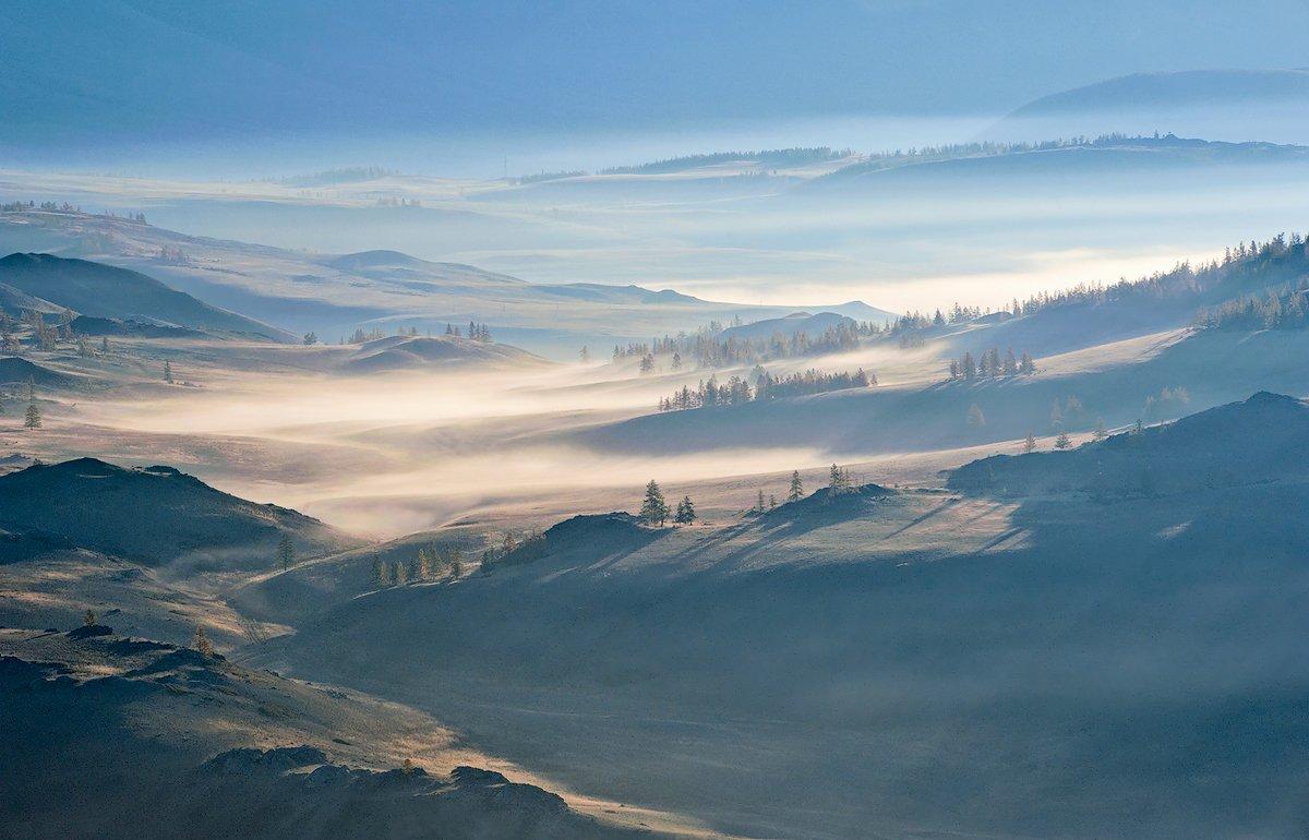 горы, облака, туман, курай, курайский хребет, горный алтай, республика алтай, Валерий Пешков