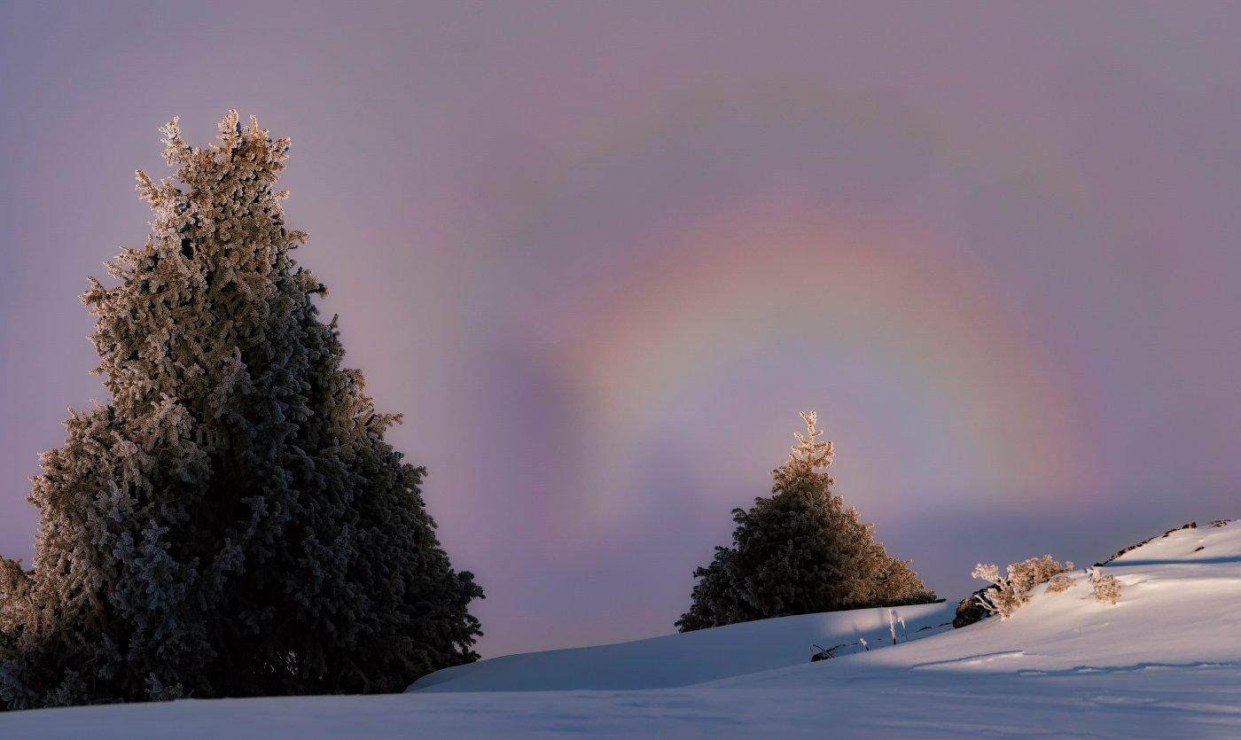 горы, туман, зима, глория, Ольга Кулакова