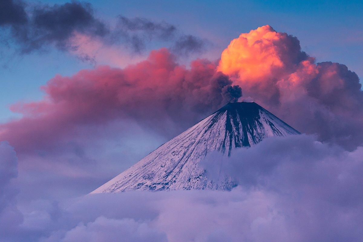 камчатка, закат, извержение, пепел, закат, природа, пейзаж, путешествие, фототур,, Денис Будьков