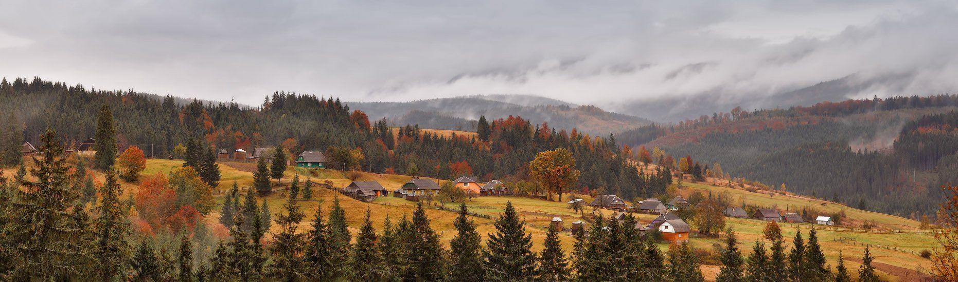 Карпаты, Октябрь, Осень, Украина, Горы, Вейзе Максим