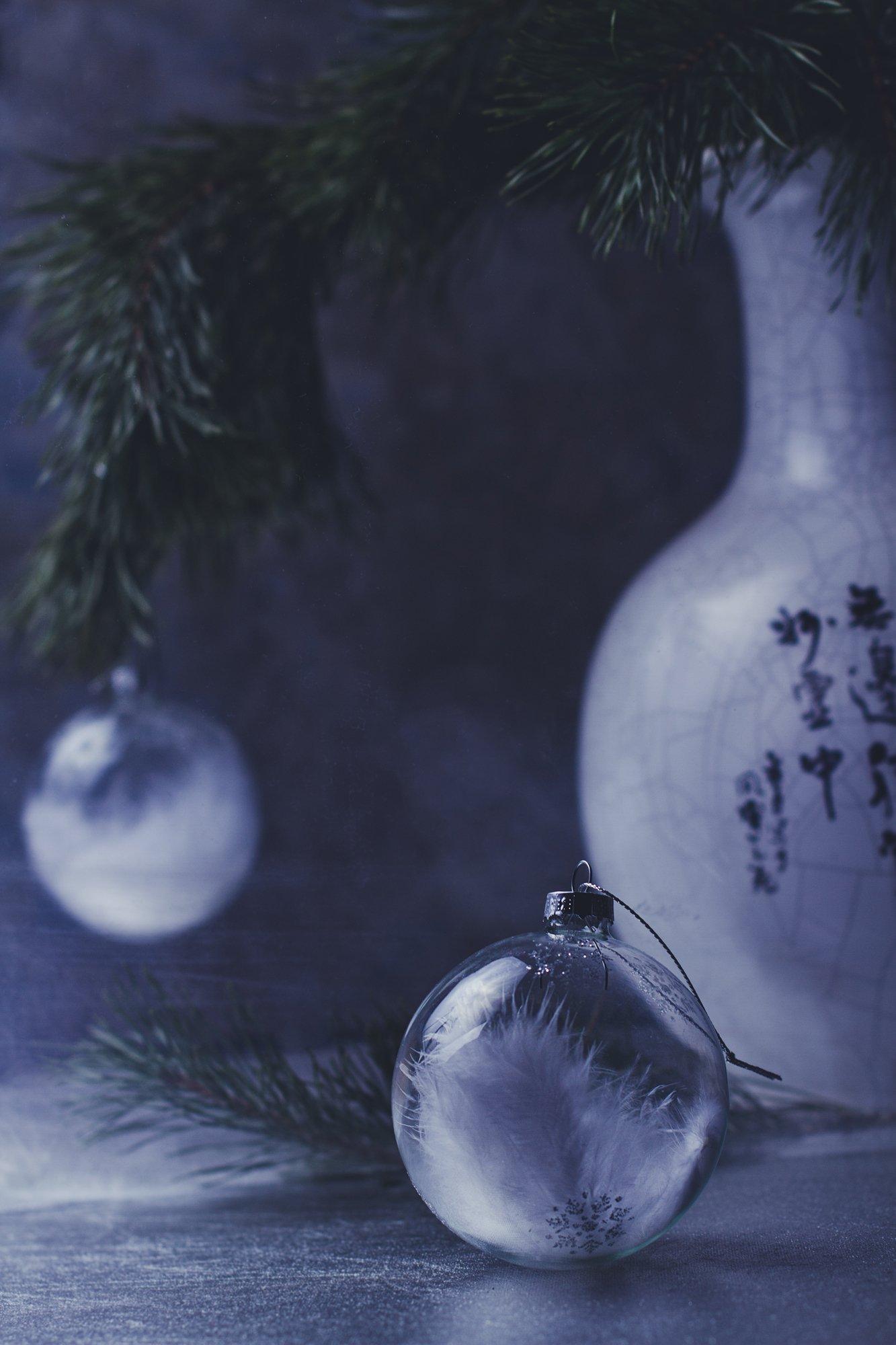 натюрморт, зима, шар, сосна, новый год, Наталья Голубева