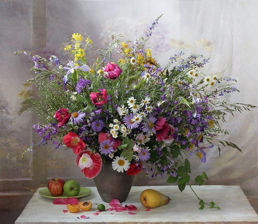натюрморт, марина филатова, в окно струился лёгкий ветерок, цветы, Марина Филатова