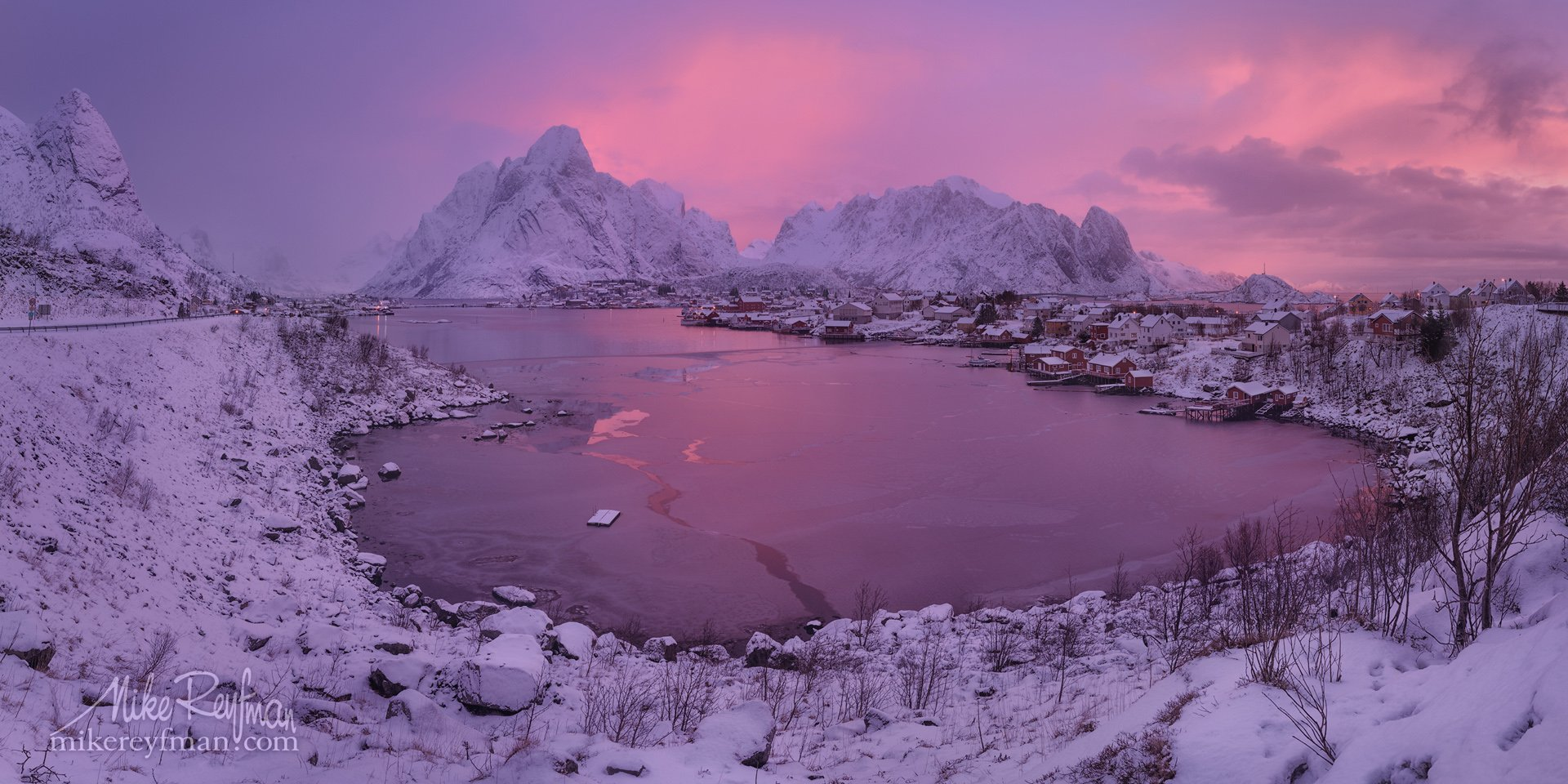 snowcapped mountain, lofoten, cloud - sky, cold temperature, color image, contrasts, frozen, horizontal, mountain, mountain range, nature, norway,  photography, scenics, sky, snow, tranquility, winter, town , fishing, cod, reine, Майк Рейфман