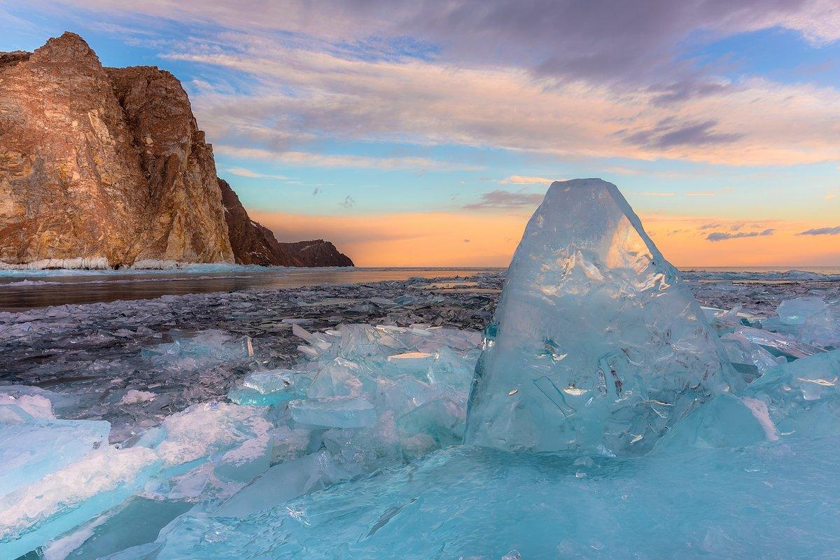 байкал, лед, торосы, хобой, рассвет, озеро, иркутская область, Кирилл Уютнов