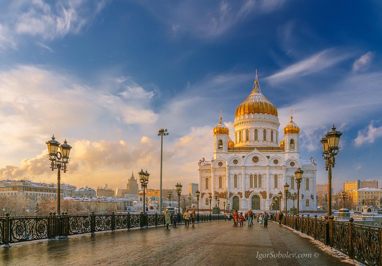 храм христа спасителя, зима, сочельник, праздник, россия, москва, Соболев Игорь