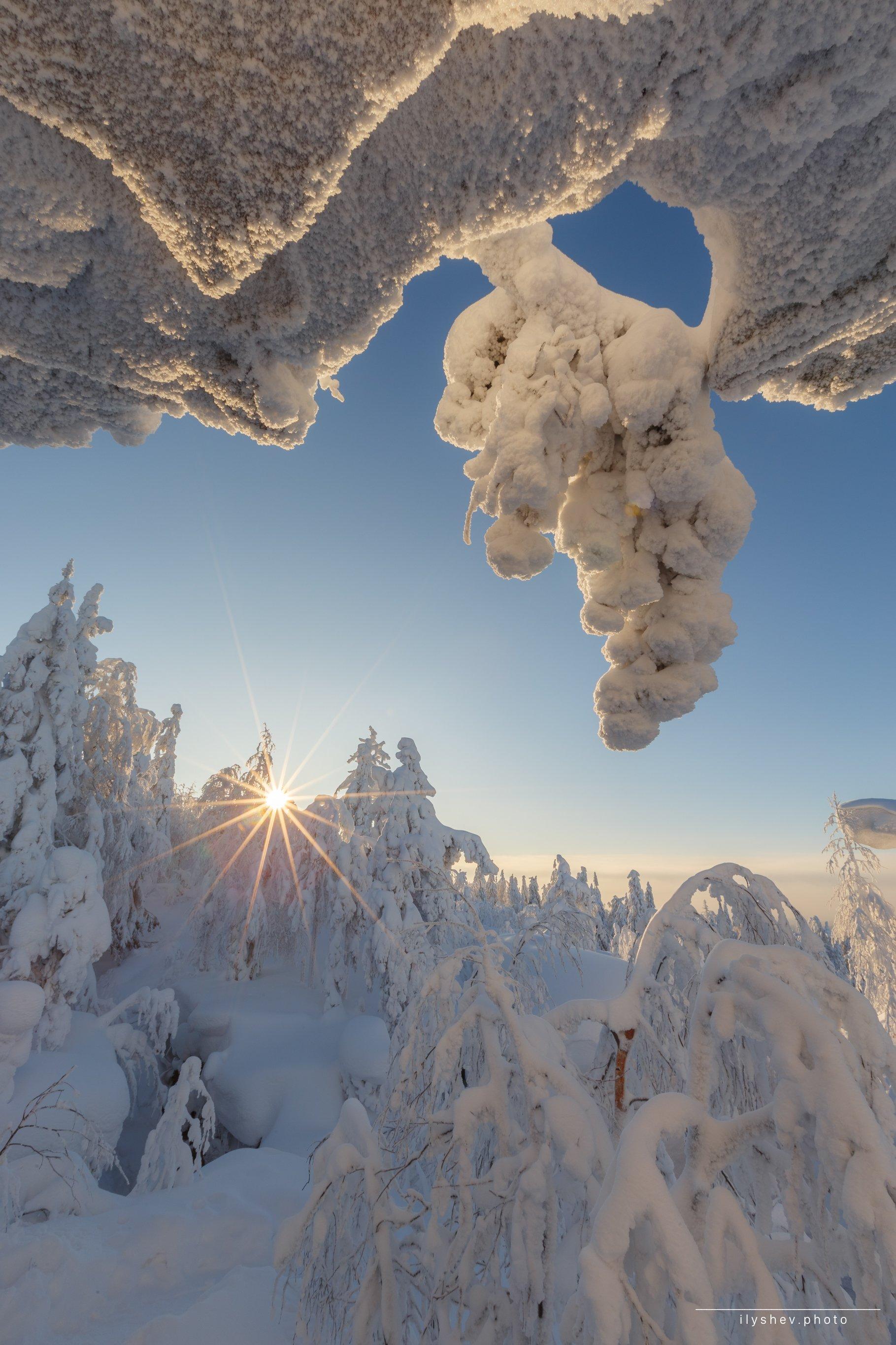 Урал, пейзаж, природа, солнце, морозное утро, мороз,, Дмитрий Илышев (ilyshev.photo)