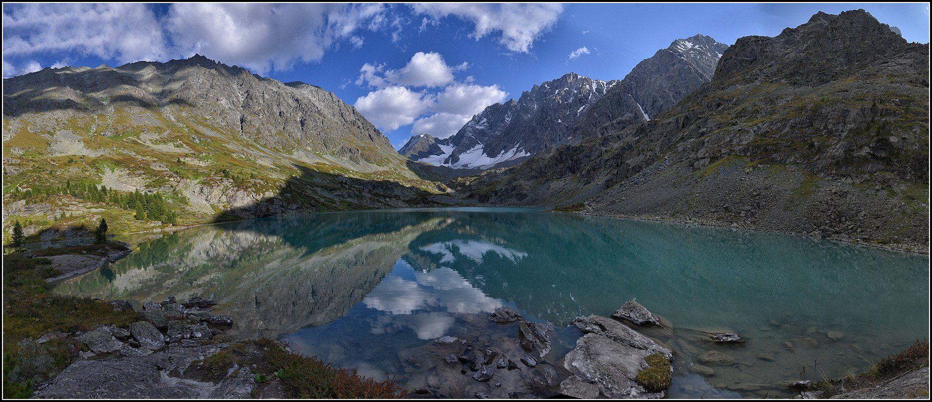 алтай, лето, оз.куйгук, панорама, Анатолий Довыденко