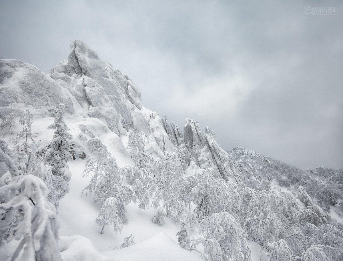 зима таганай двуглавая сопка, Сергей Сотников