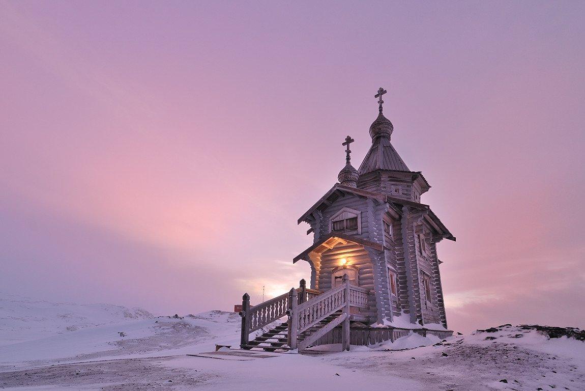 храм святой троицы, антарктика, ст.беллинсгаузен., Руслан Елисеев