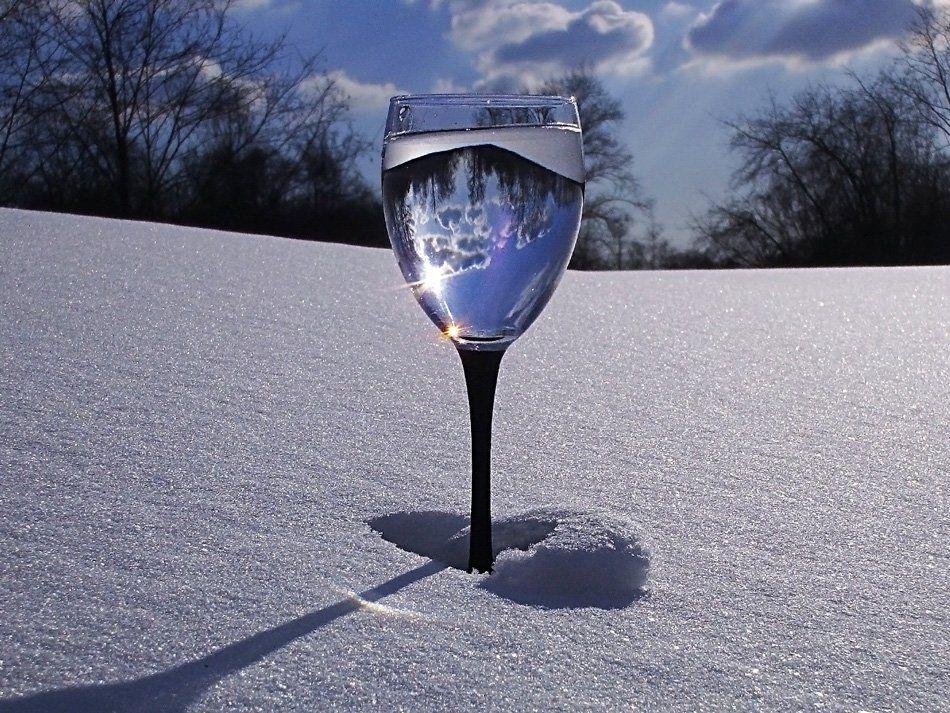 натюрморт,небо,весна,бокал,отражение, Андрей,любитель 35photo