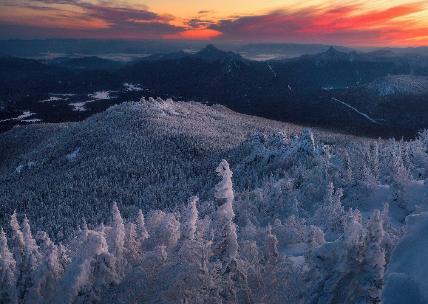 ялангас, урал, тайга, зима, горы, Владимир Ляпин