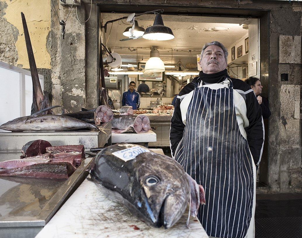 Tuna market fish, Boris Zhitomirsky