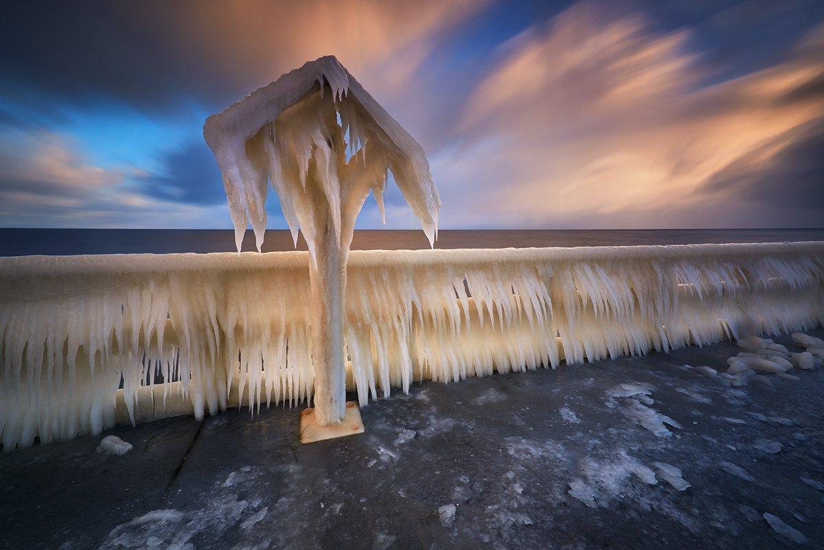 polska,gdynia,zima ,lodowa szata,morze bałtyckie, Grzegorz Lewandowski