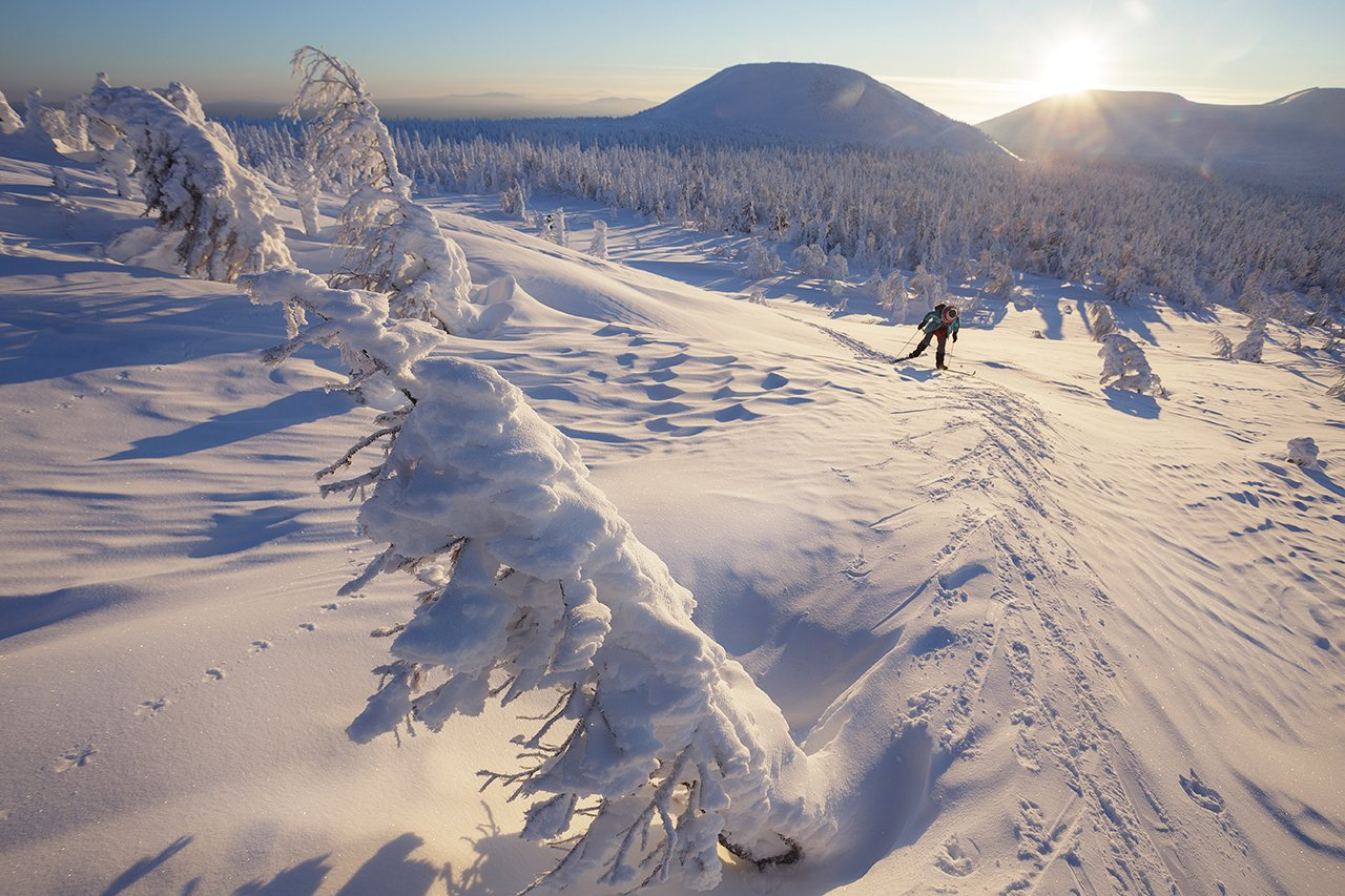 северный урал, гух, главный уральский хребет, северный урал, урал, гух, главный уральский хребет, лыжный поход, зима, манси, лыжник, Сергей Гарифуллин