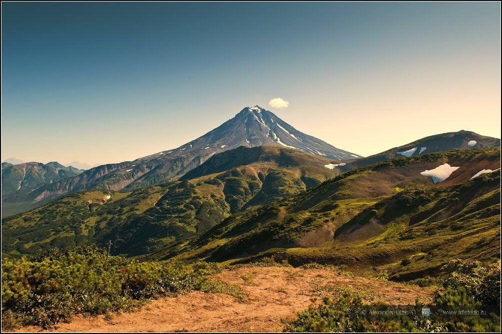 Камчатка, горы, вулкан, Александр Лицис
