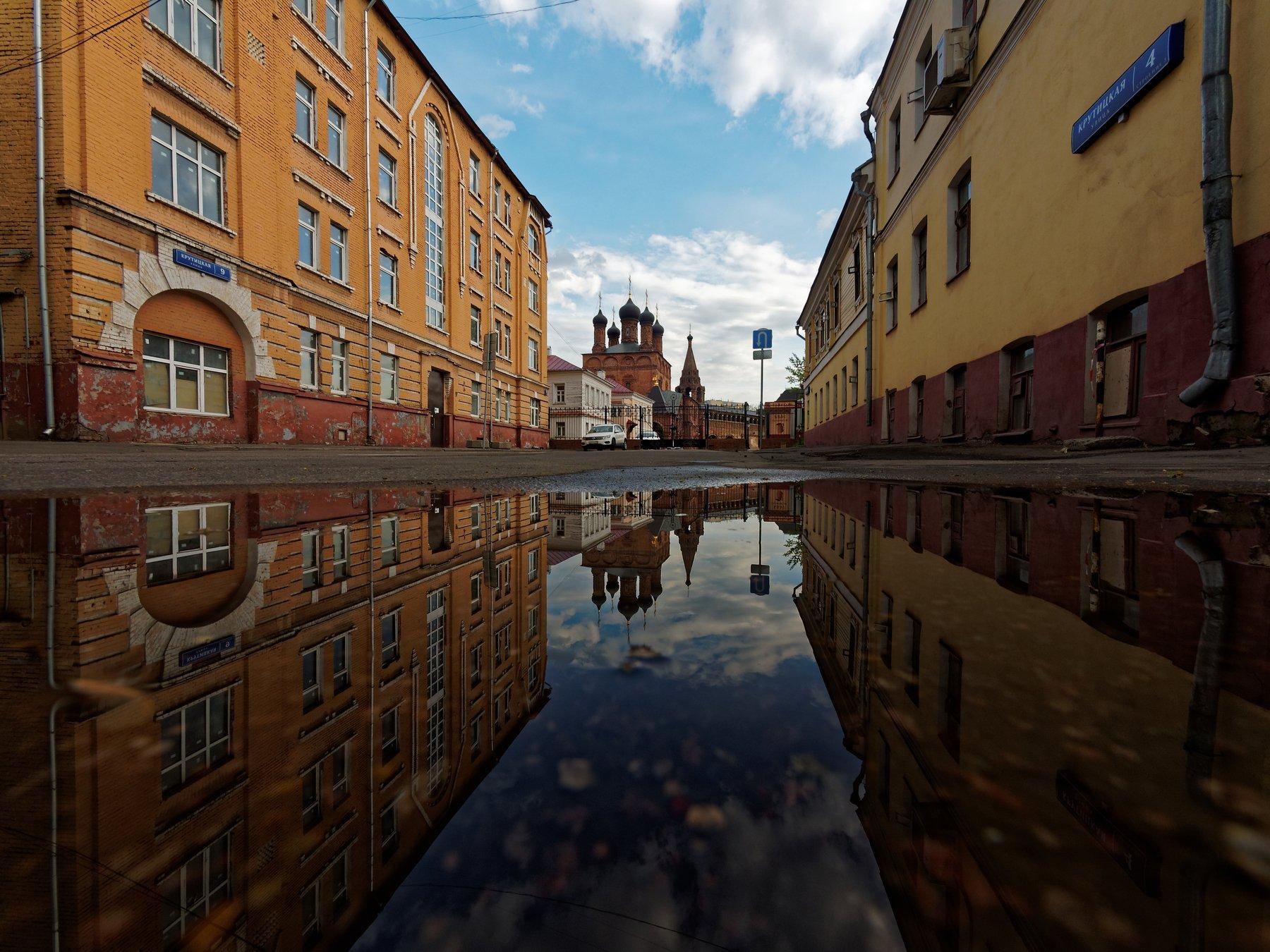 город, Москва, улица, архитектура, отражение, прогулка, храм, , Конев Сергей