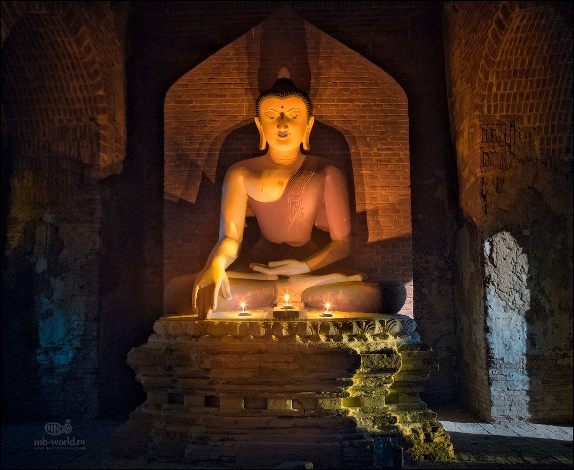 Бирма, Мьянма, ночь, пагода, Баган, MB-WORLD, Михаил Воробьев