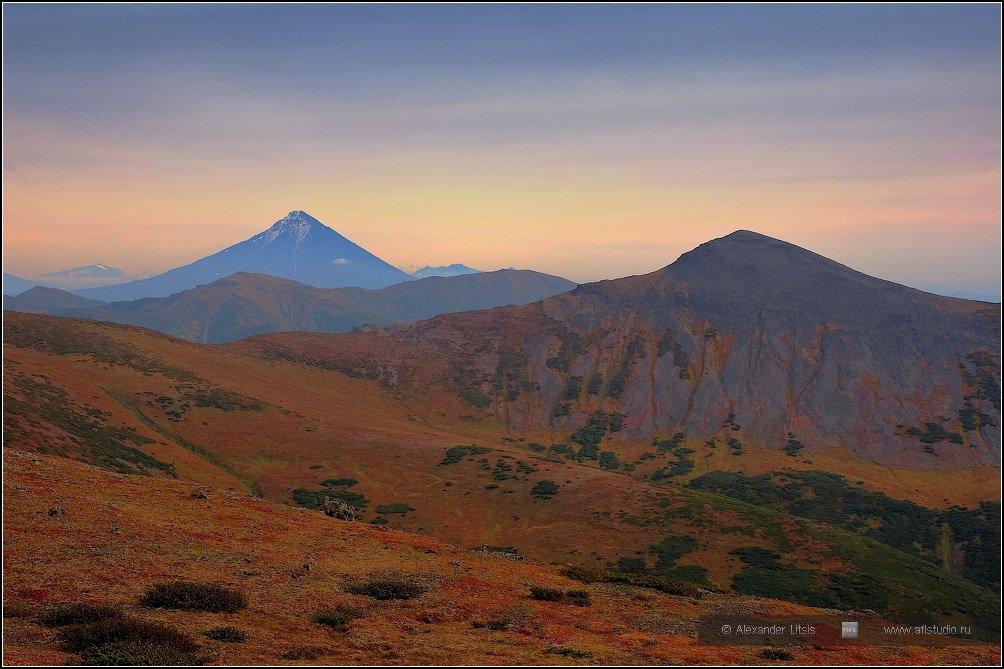 Камчатка, вулкан, горы, Александр Лицис