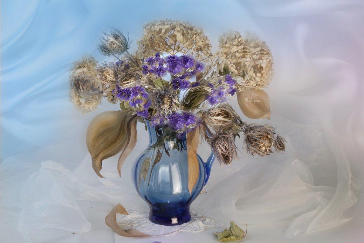 натюрморт с сухими цветами,ваза,сухие цветы,, Вера Павлухина