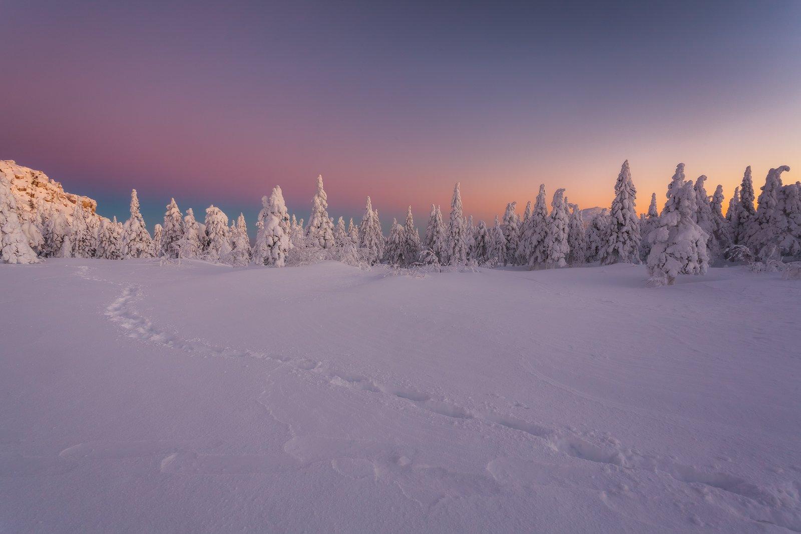 зима, урал, таганай, златоуст, рассвет, t_berg, Михаил Трахтенберг ( t_berg )