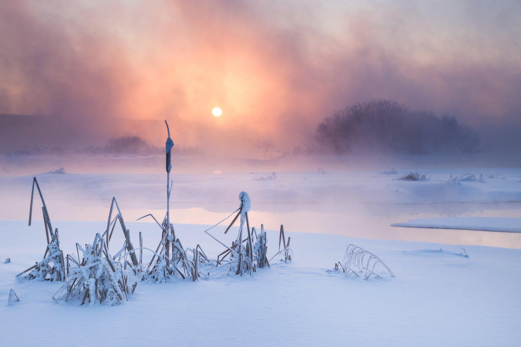 арамиль, урал, свердловская область, восход, закат, зима, пар, туман, свет, средний урал, река, исеть, Сергей Гарифуллин