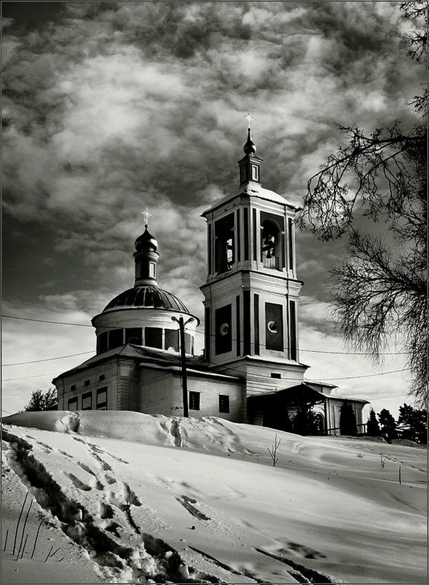 Ч/Б,храм, Виктор Парщиков