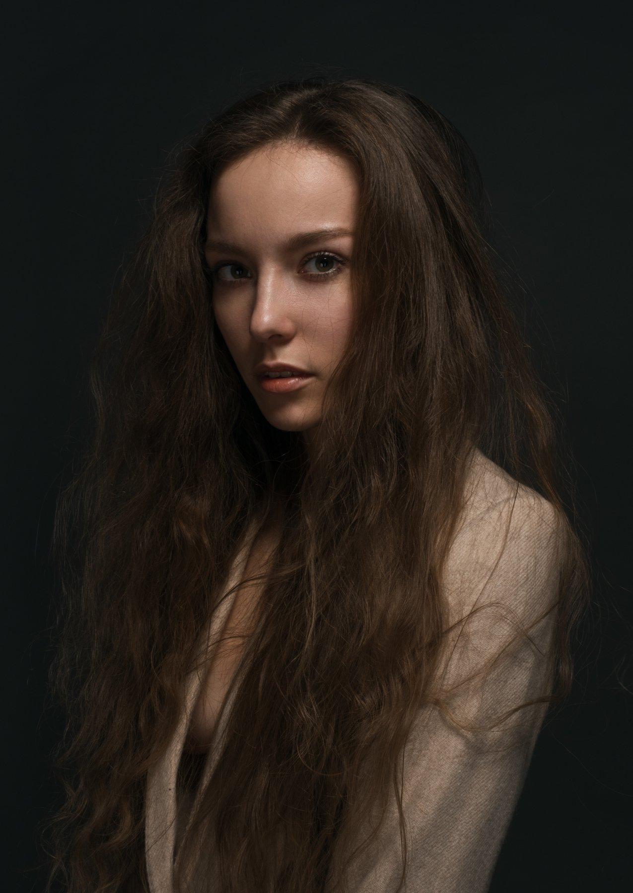 hair, portrait, studio, model, Роман Филиппов