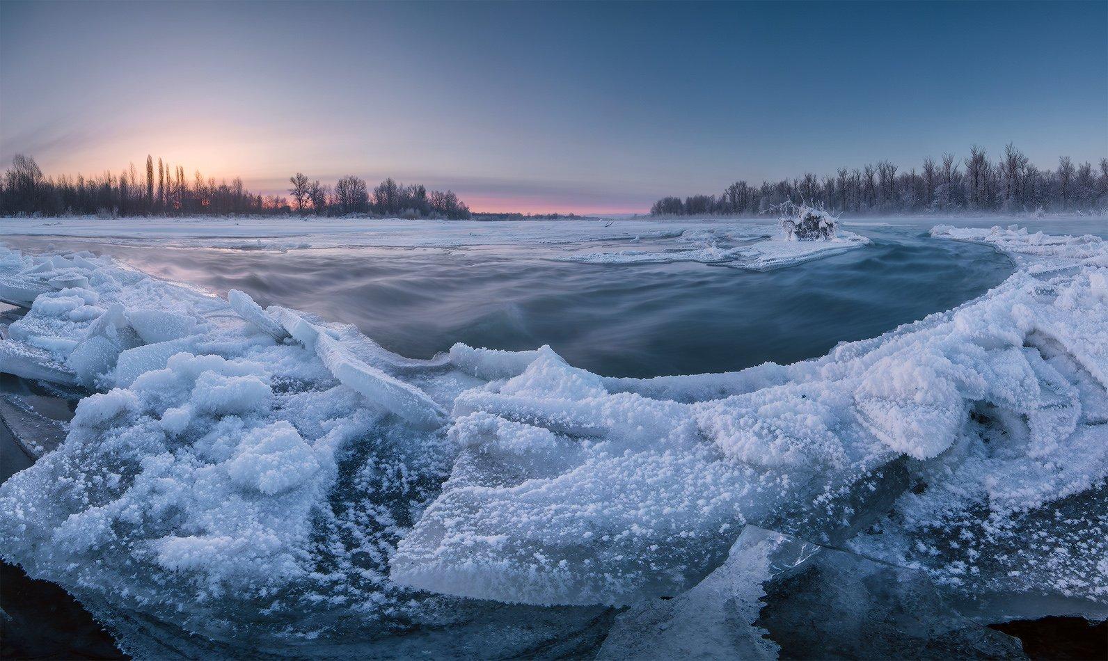 февраль рассвет ледяной остров, Николай