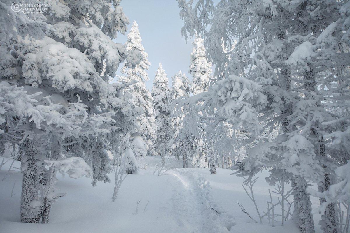 зима снег таганай урал, Сергей Сотников
