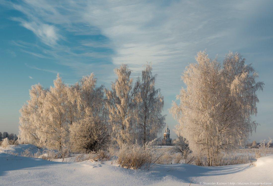 пейзаж, снег, мороз, зима, Станислав Казнов