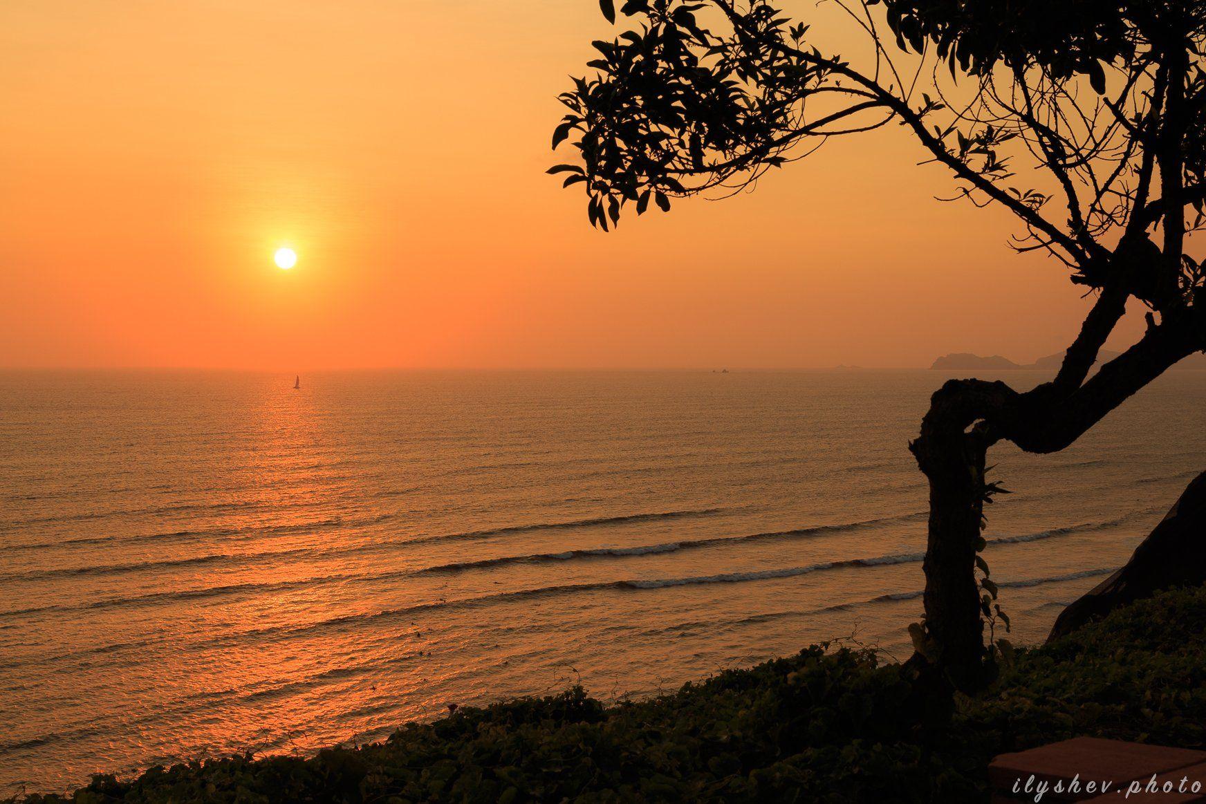 закат, пейзаж, природа, тихий океан, побережье, перу, южная америка, Дмитрий Илышев (ilyshev.photo)