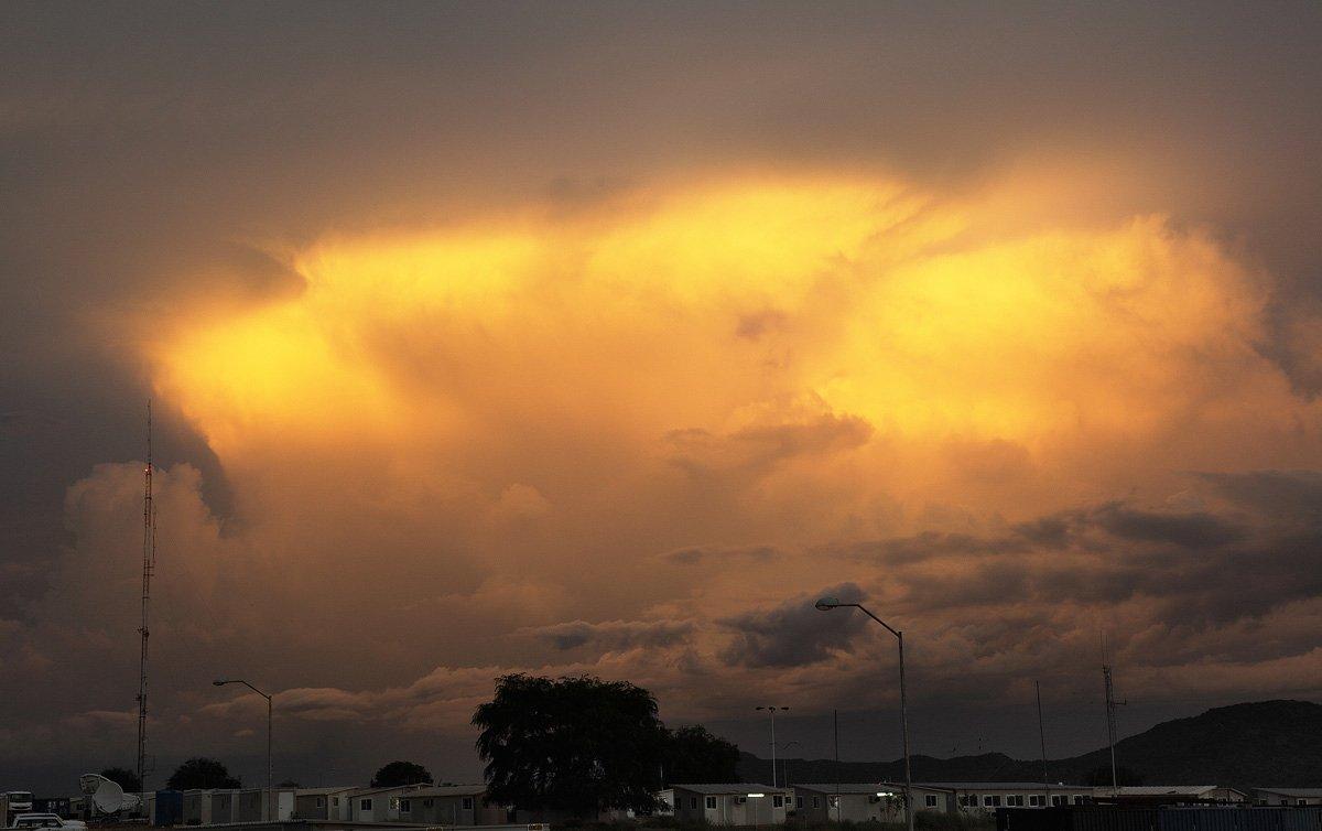 небо, вечер, закат, облака, Олег Загидуллин