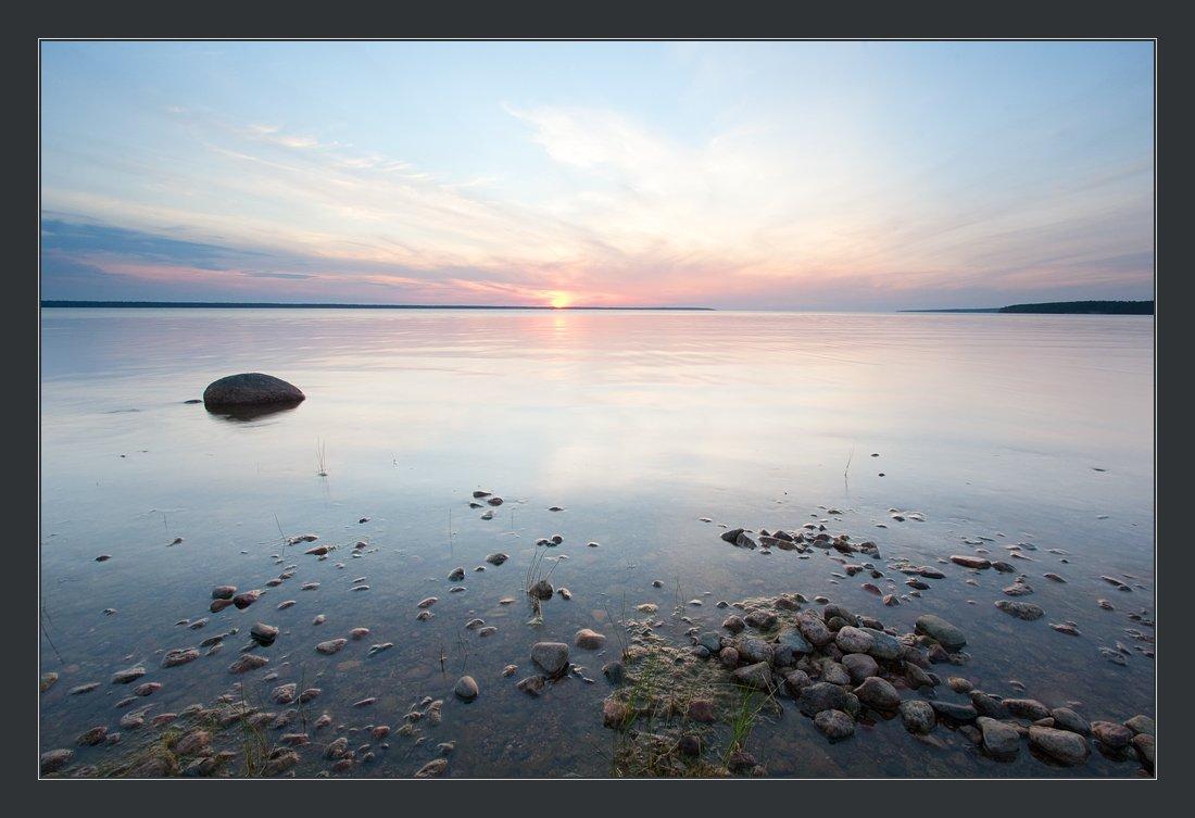 приморск, вечер, берег, залив, Михаил