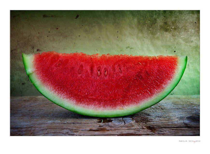 натюрморт, арбуз, срез, красный, спелый, зеленый, сочный, аппетитный, Nailia