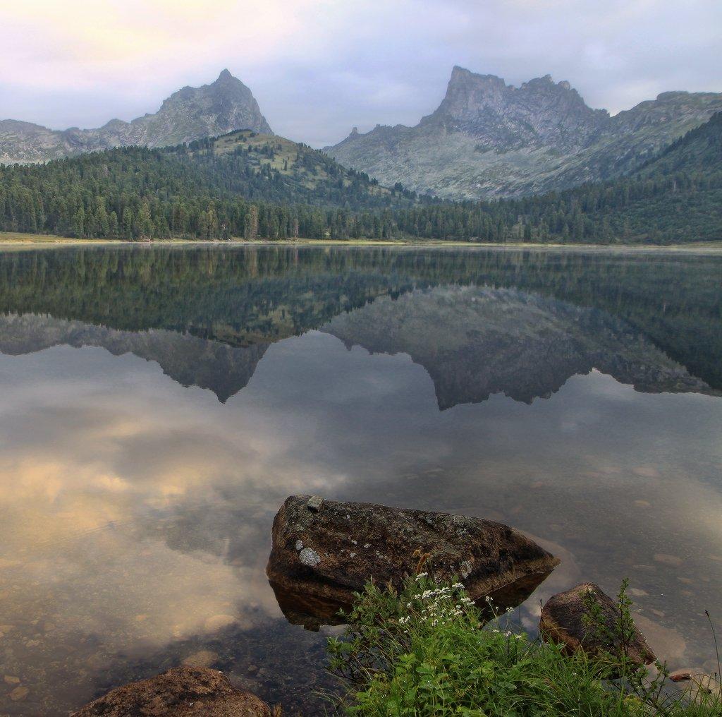 ергаки, озеро светлое, утро, горы, Галина Хвостенко