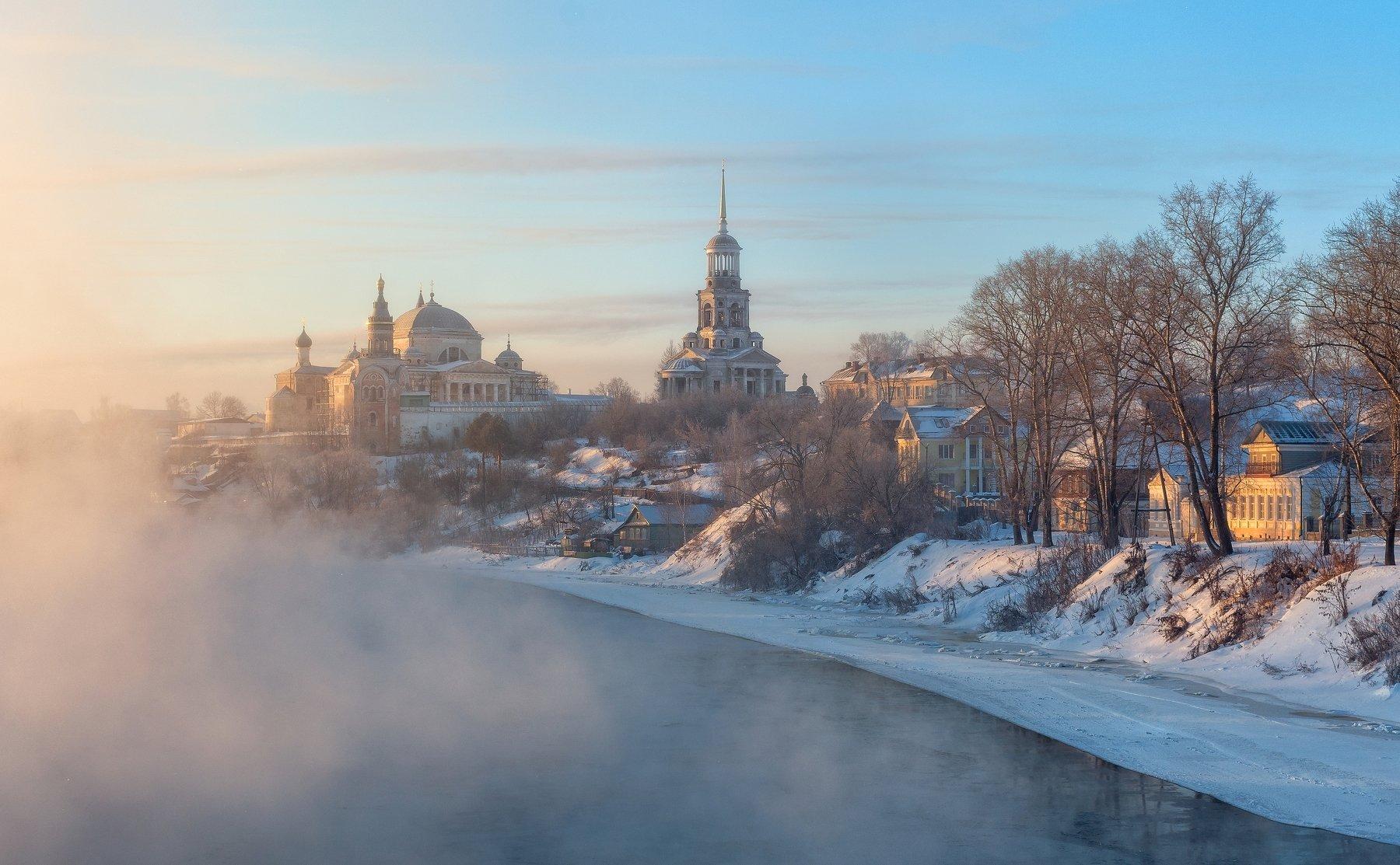 Россия Торжок Тверца Тверская область зима мороз , Сергей Давыдов